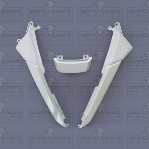 HONDA MSX GROM 3 REAR PLASTIC FAIRING PANELS GENUINE OE HIMALAYAS WHITE 2013-15