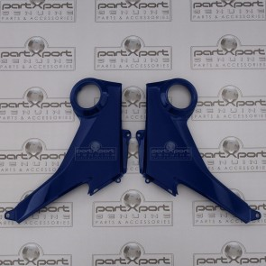 HONDA MSX GROM 125 SIDE FAIRING PANEL PAIR GENUINE OE PISCES BLUE 2013-15