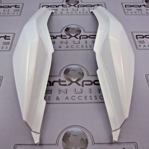 HONDA MSX MSX125 GROM GROM125 SF REAR PAIR COVER PANEL FAIRING WHITE 2016 - 17