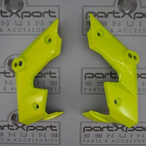 HONDA MSX MSX125 GROM GROM125 SF BOOMERANG PANEL FAIRING PAIR ICE YELLOW 2016